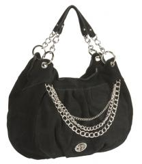 SUEDE HOBO WITH CHAINS
