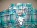 Ladies 4000 Pcs Sort Sleeve Spandex Check Shirt