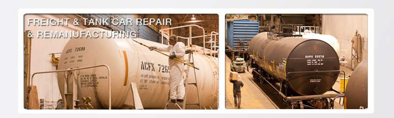 Order Repair, Modify, and Upgrade of all types of freight cars and tank cars.