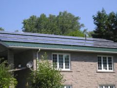 Installation solar power generating systems.