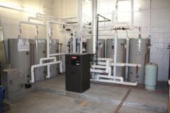 Installation of solar water heating