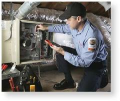 Heating and cooling service centers