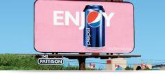 Outdoor advertisement, large format digital billboards and superboards