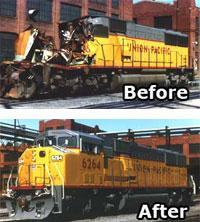 Remanufacturing locomotives.