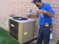 Installation central air conditioning unit